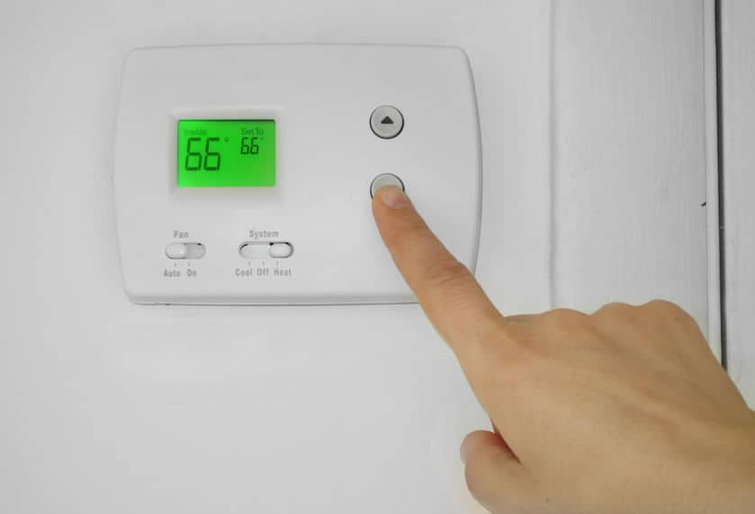 Change thermostat batteries