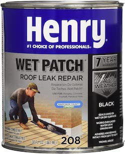 roofing cement leak repair Henry wet patch