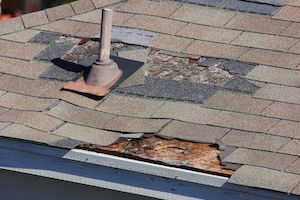 damaged roof that requires new decking